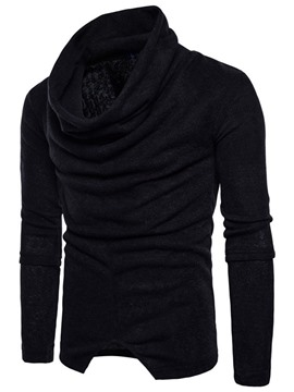 Ericdress Standard Heap Collar Plain Men's Slim Winter Sweater