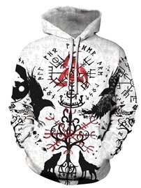 Ericdress Pullover Print Men's Casual Slim Hoodies