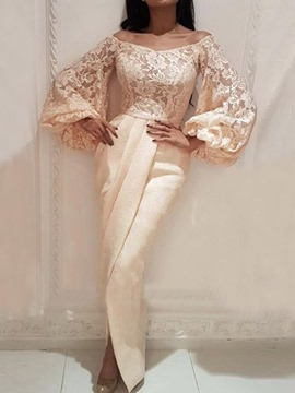 Ericdress Floor-Length Embroidery Long Sleeve Plain Women's Dress