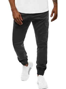 Ericdress Pocket Plain Fall Casual Men's Pants
