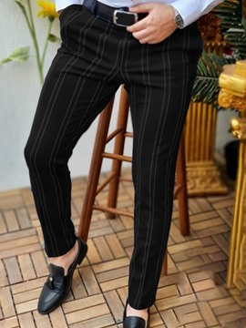 Ericdress Stripe Pencil Pants European Mid Waist Casual Men's Pants
