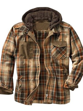 Ericdress Double-Layer Plaid Patchwork Casual Fall Men's Jacket