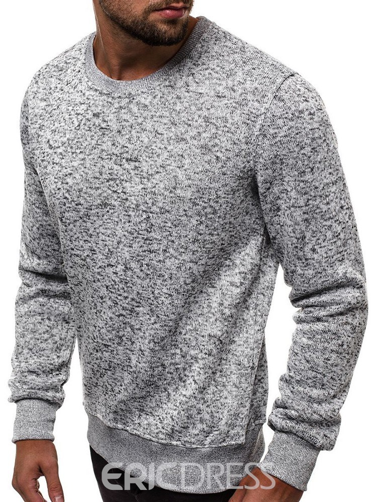 Ericdress Plain Pullover Patchwork Round Neck Fall Men's Hoodies