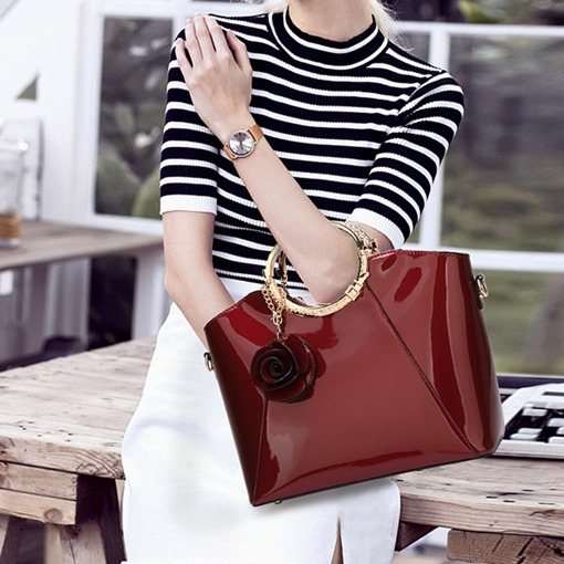 Ericdress Plain European Thread Tote Bags