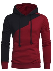 Ericdress Pullover Patchwork Color Block Fall Men's Hooded