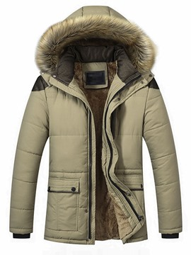 Ericdress Patchwork Standard Color Block Zipper Casual Men's Down Jacket
