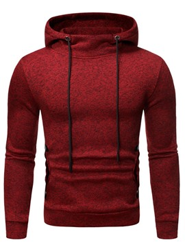 ericdress pullover plain hooded fall sudaderas con capucha