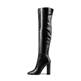 Ericdress Side Zipper Chunky Heel Pointed Toe Western Boots