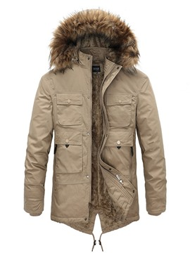 Ericdress Mid-Length Stand Collar Asymmetric Casual Zipper Men's Down Jacket