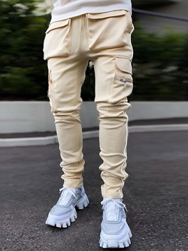 Ericdress Pocket Color Block Pencil Pants Fall Korean Men's Casual Pants