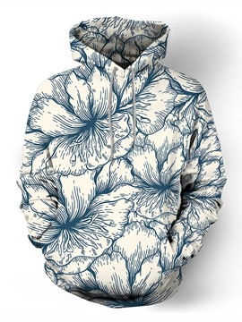 Ericdress Pullover Print Floral Fall Pullover Men's Hoodies