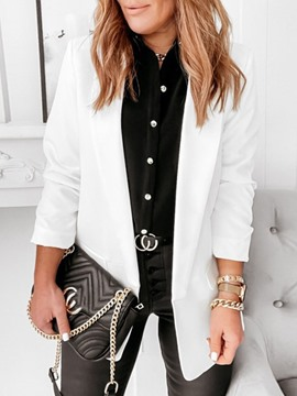 Ericdress Long Sleeve Notched Lapel Plain Regular Standard Casual Women's Blazer