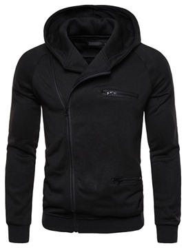 Ericdress Men's Cardigan Zipper Plain Fall Hooded