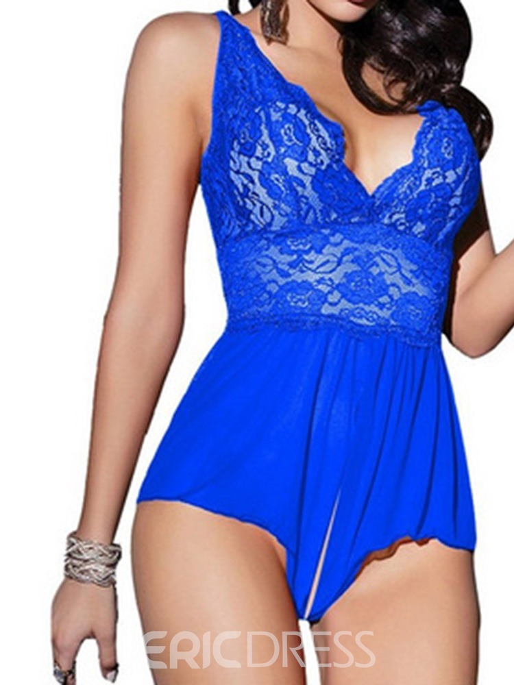Ericdress Open Crotch See-Through Backless Teddy Bodysuit