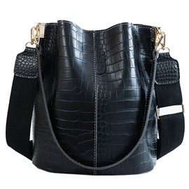 Ericdress Embossing PU Alligator Barrel-Shaped Shoulder Bags