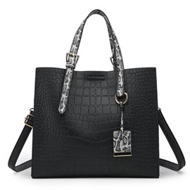 Ericdress PU Alligator Thread Rectangle Women's Tote Bags