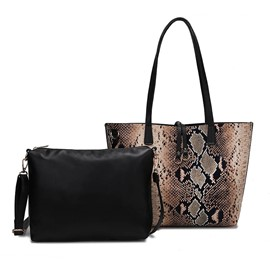 Ericdress Print PU Serpentine Rectangle Tote Bags