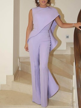 Ericdress Plain Full Length Elegant Mid Waist Slim Women's Jumpsuit