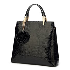 Ericdress Embossing PU Alligator Rectangle Tote Bags