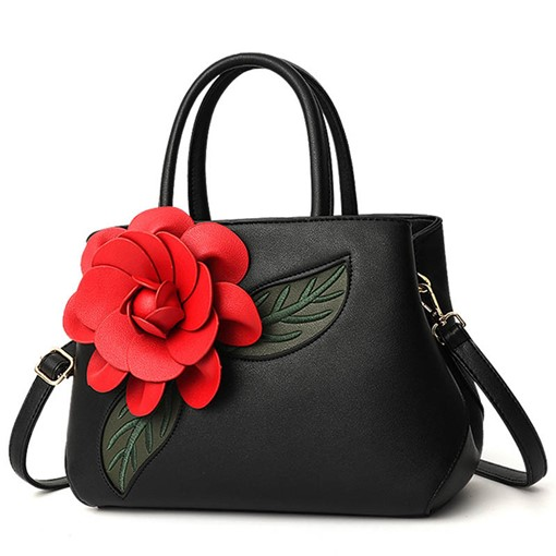 Ericdress Floral PU Applique Rectangle Tote Bags