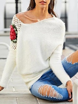 Ericdress Hollow Regular Thin Fall Long Sleeve Women's Sweater