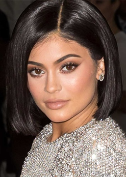 Ericdress Kylie Jenner Short Bob Hairstyle Women's Straight Human Hair Lace Front Wigs 10Inch