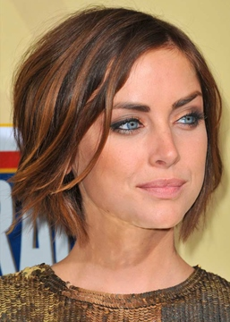 Ericdress Jessica Stroup Hottest Short Haircuts Women's Natural Straight Synthetic Hair Capless Wigs 10Inch