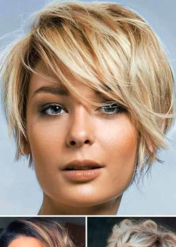 Ericdress Short Shaggy Women's Layered Hairstyles Straight Synthetic Hair Capless Wigs 8Inch