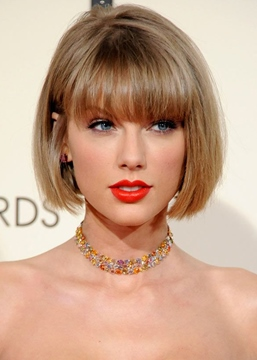 Ericdress Hottest Short Haircuts Women Taylor Swift Bob Style Straight Human Hair Capless Wigs 10Inch