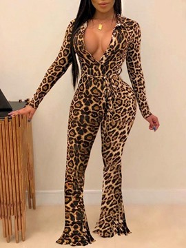 Ericdress Full Length Sexy Print Slim Bellbottoms Women's Jumpsuit