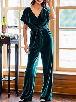 Ericdress Full Length Party/Cocktail Plain Wide Legs Loose Women's Jumpsuit