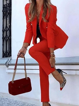 Ericdress Fashion Blazer Long Sleeve Ankle Length Women's Suit