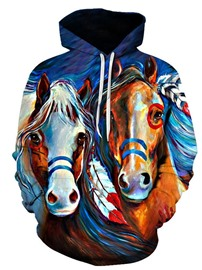 Ericdress Print Animal Pullover Men's Winter Hoodies