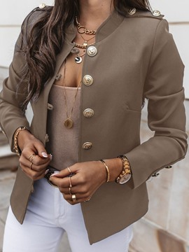 Ericdress Single-Breasted Long Sleeve Plain Standard Fall Women's Casual Blazer