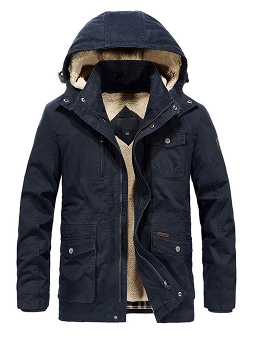 Ericdress Standard Stand Collar Plain Casual Zipper Men's Down Jacket