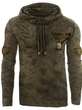 Ericdress Patchwork Pullover Number Men's Hoodies