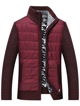 ericdress pull d'hiver slim patchwork standard col montant