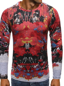 Ericdress European Round Neck Print Long Sleeve Men's T-shirt