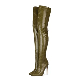 Ericdress Pointed Toe Stiletto Heel Plain Western Women's Boots
