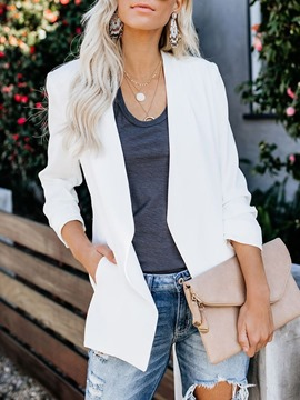 Ericdress Long Sleeve Plain Regular Standard Casual Women's Blazer