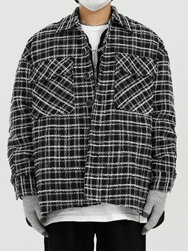 Ericdress Plaid Lapel Korean Fall Men's Jacket
