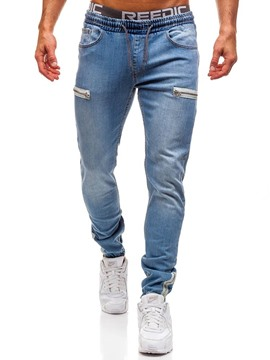Ericdress Pencil Pants Plain Zipper Low Waist Casual Men's Jeans