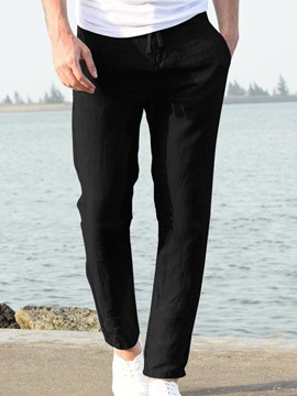 Ericdress Straight Plain Thin Spring Casual Men's Pants