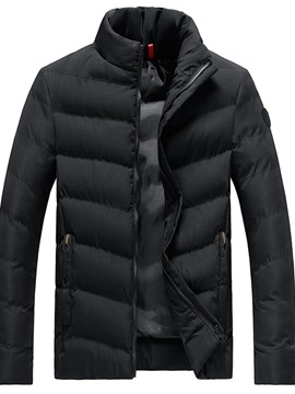 Ericdress Plain Standard Zipper Casual Men's Slim Down Jacket