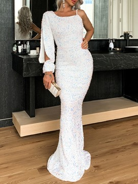 Ericdress Sequins Floor-Length Long Sleeve Fall Mermaid Dress