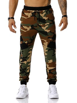 Ericdress Pencil Pants Camouflage Print Mid Waist Men's Casual Pants