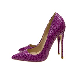 Ericdress Serpentine Stiletto Heel Slip-On Plain Thin Women's Shoes