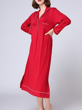 Ericdress Plain Single Western Half Sleeve Nightgowns