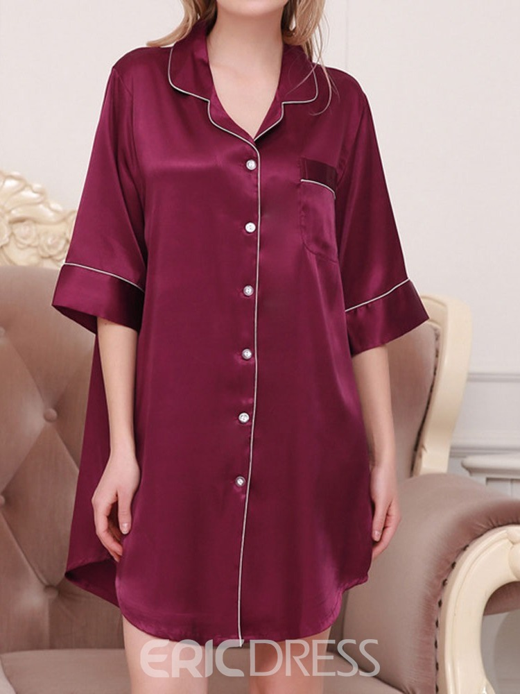Ericdress Plain Single Western Above Knee Nightgowns