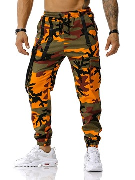 Ericdress Camouflage Pocket Pencil Pants Casual Lace-Up Casual Men's Pants